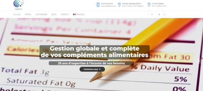 legisana - referencement seo Google Belgique